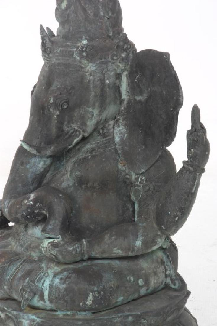 Buddhist Bronze Ganesh Sculpture - 8