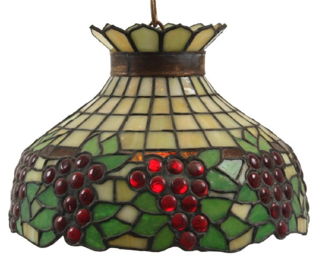 12 In Hanging Leaded Grape Dome