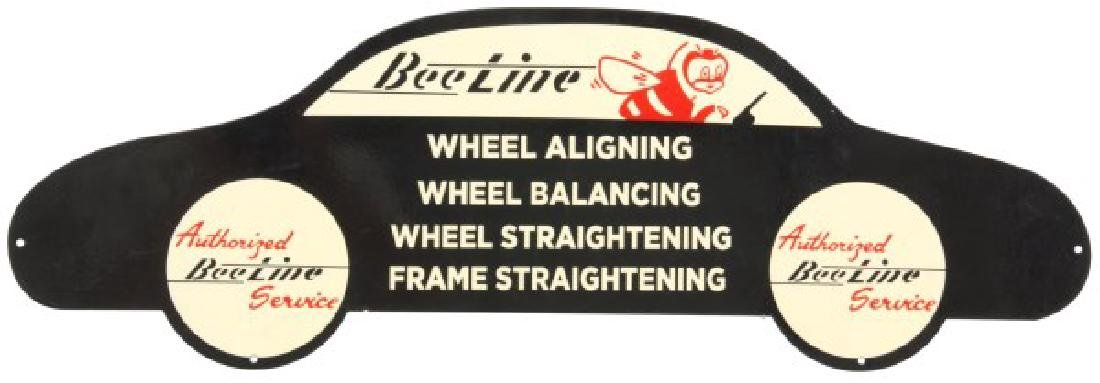 Porcelain Bee-Line Auto Service Sign