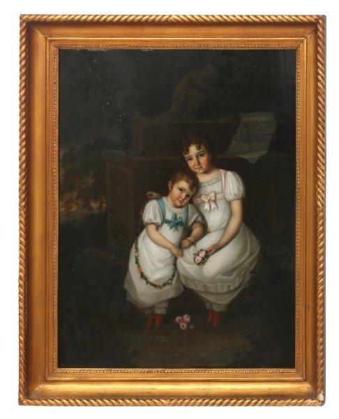 19th Century European Folk Portrait