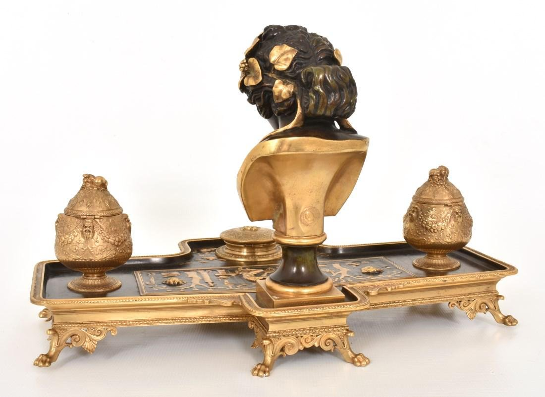 F. Barbedienne Figural Bronze Ink Stand - 8