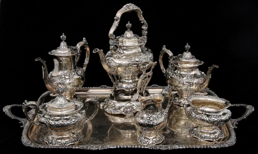 6 Pcs. Sterling Francis 1 Silver Tea Set