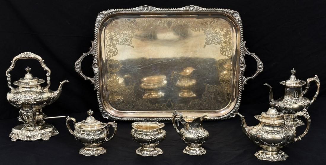 6 Pcs. Sterling Francis 1 Silver Tea Set - 2