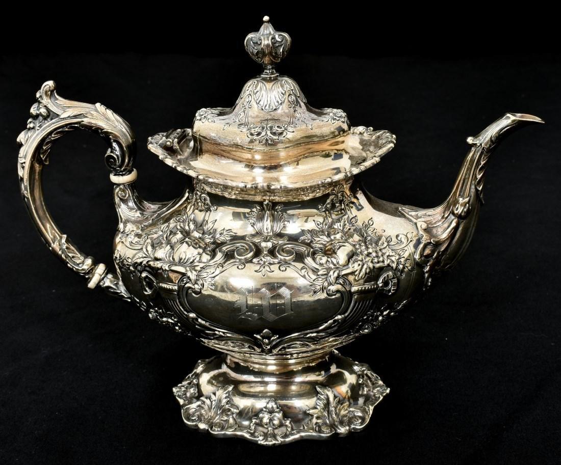 6 Pcs. Sterling Francis 1 Silver Tea Set - 4