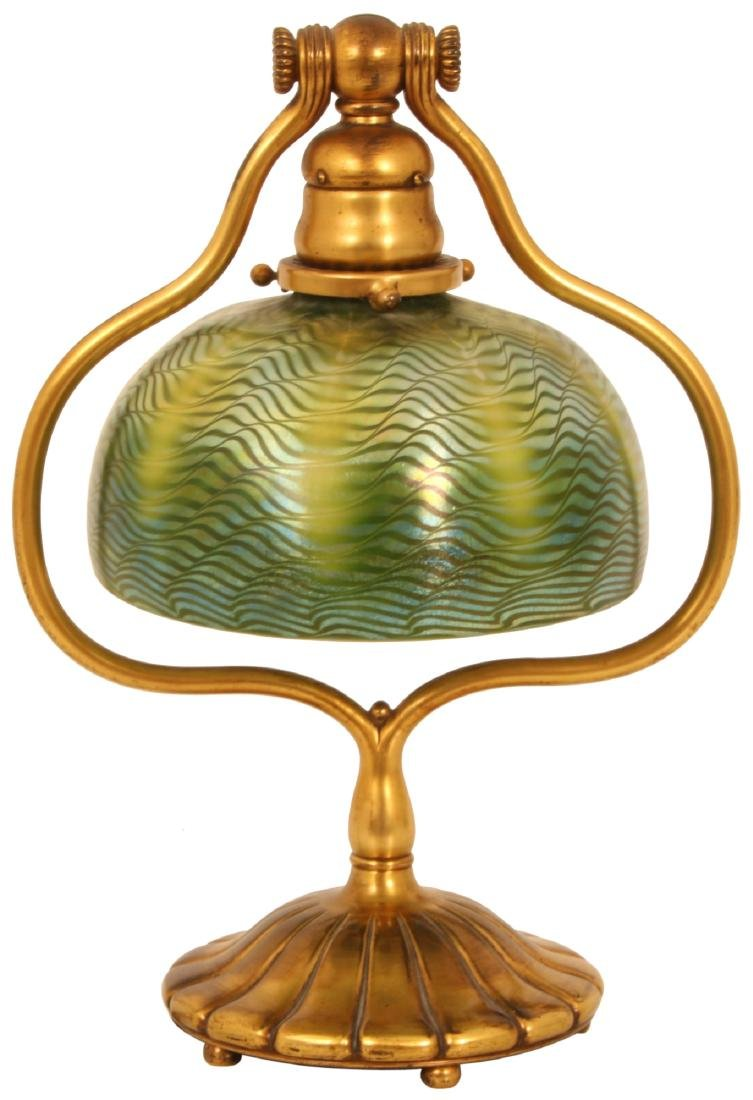 Tiffany Favrile Damascene Harp Desk Lamp