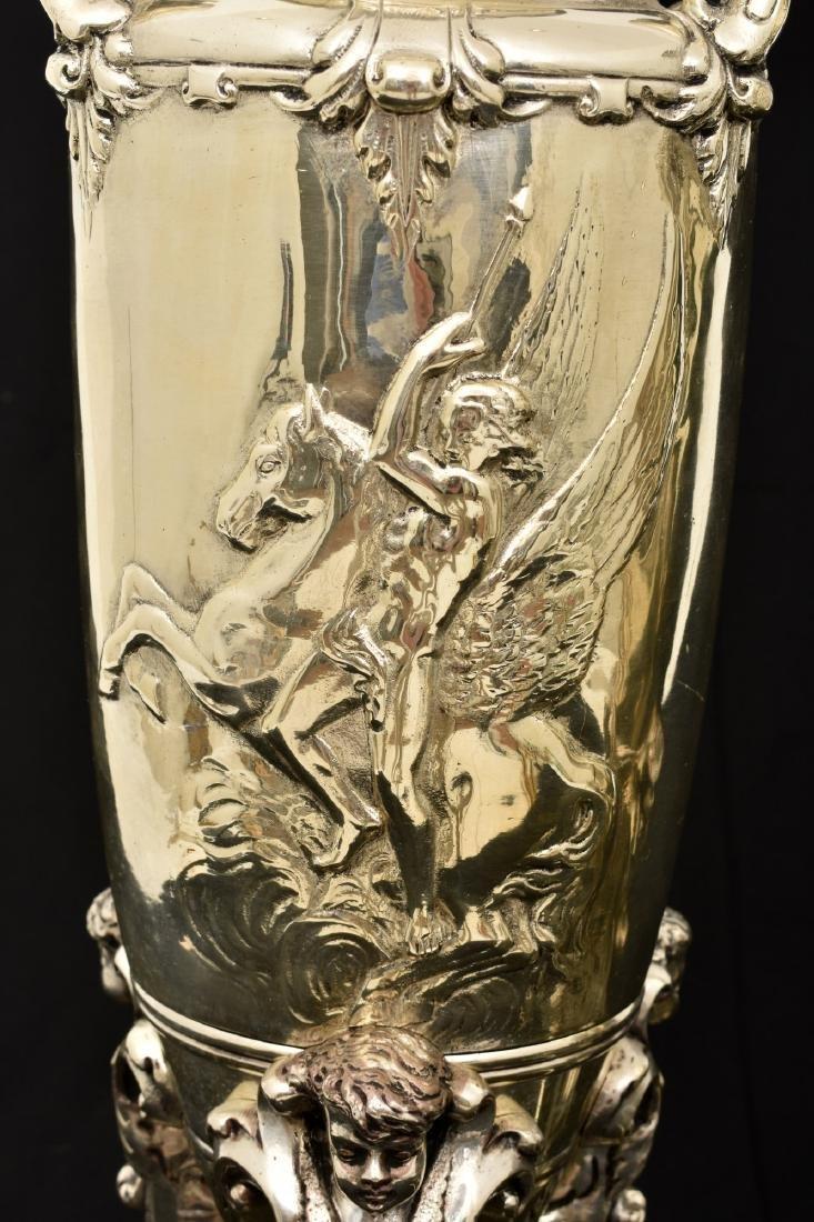 Pr. Silver Plated Bronze Vases Attr. Barbedienne - 3