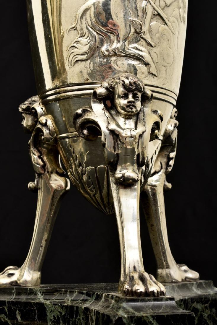 Pr. Silver Plated Bronze Vases Attr. Barbedienne - 4