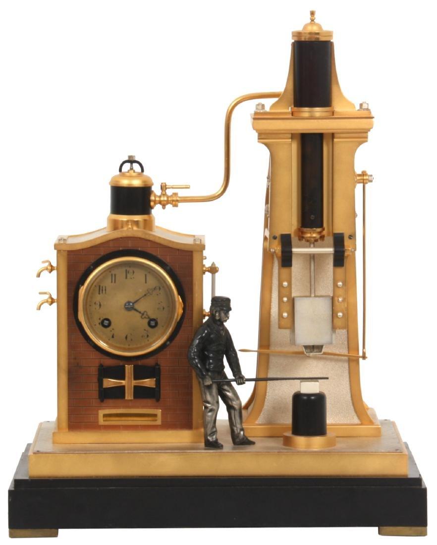 French Industrial Foundryman Mantle Clock