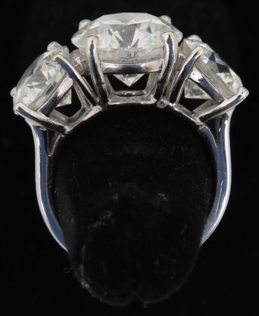 14K Gold Ring w/ 3 Prong Set Diamonds, 9.46 ct. - 10