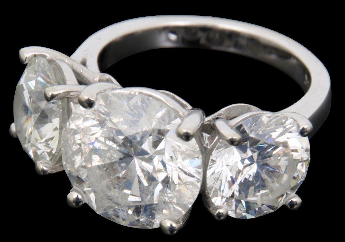 14K Gold Ring w/ 3 Prong Set Diamonds, 9.46 ct.