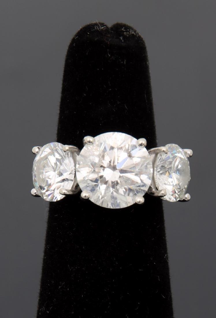 14K Gold Ring w/ 3 Prong Set Diamonds, 9.46 ct. - 2