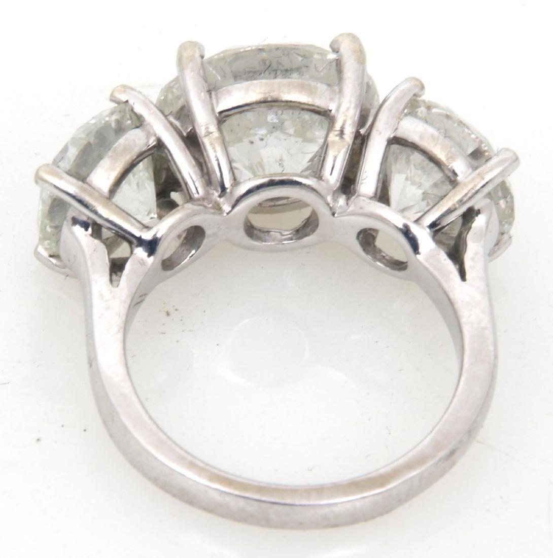 14K Gold Ring w/ 3 Prong Set Diamonds, 9.46 ct. - 3