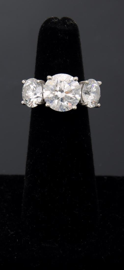 14K Gold Ring w/ 3 Prong Set Diamonds, 9.46 ct. - 5