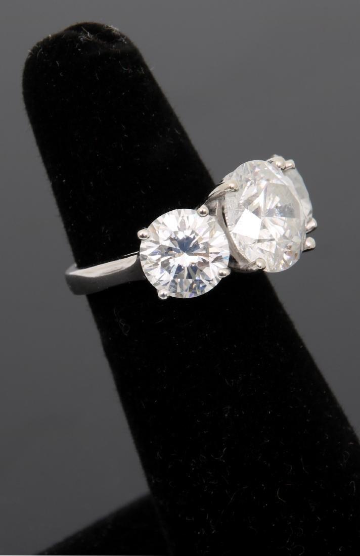 14K Gold Ring w/ 3 Prong Set Diamonds, 9.46 ct. - 6
