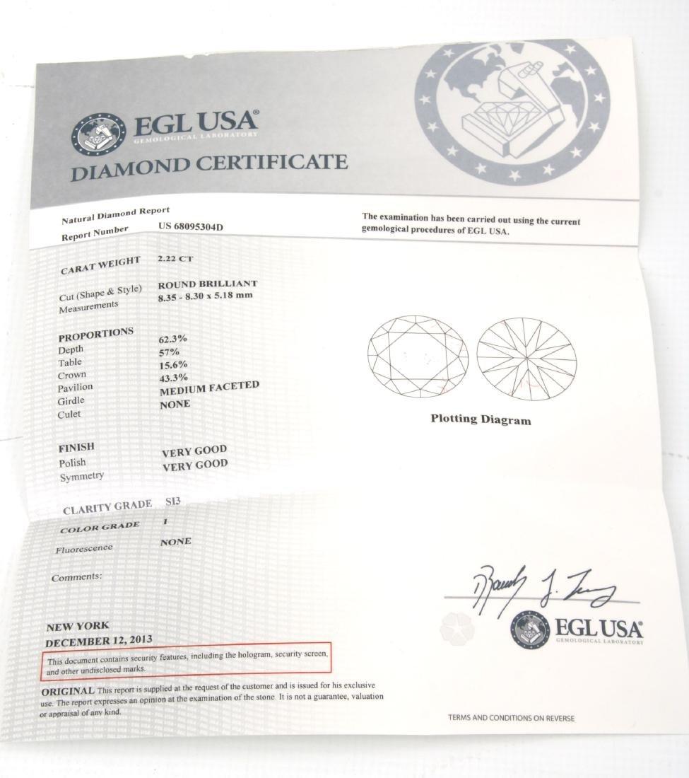 14K Gold Ring w/ 3 Prong Set Diamonds, 9.46 ct. - 9