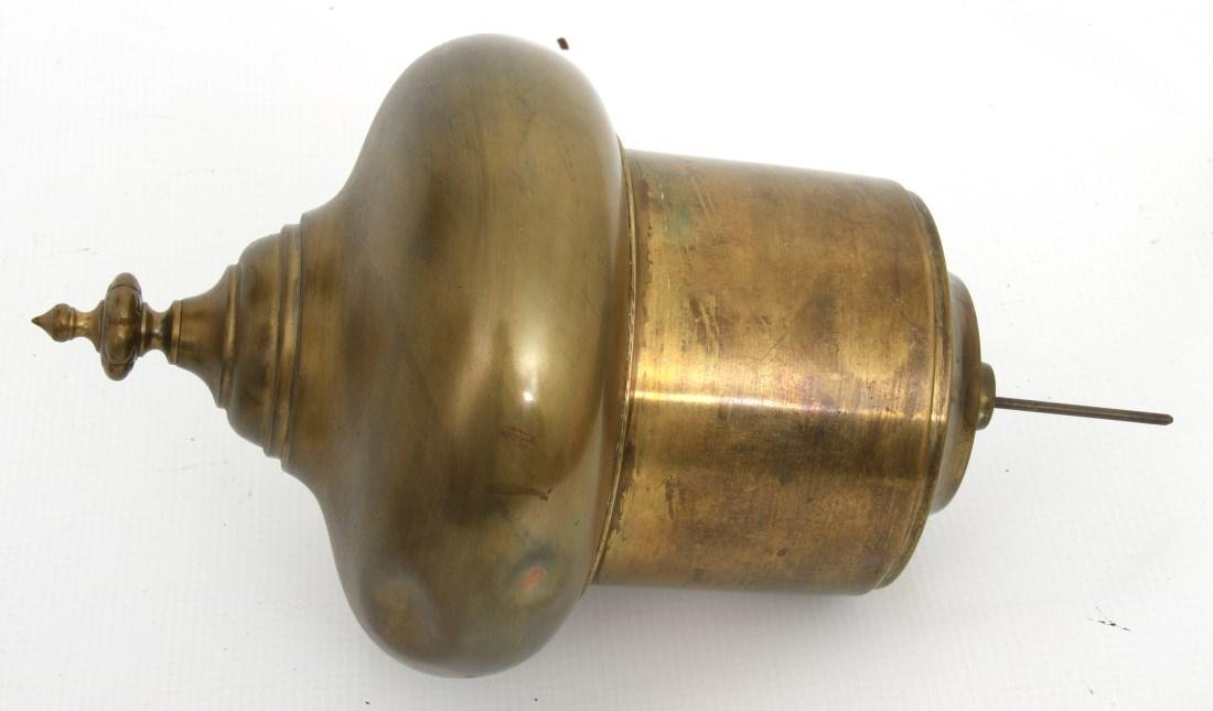 Brass Double Student Lamp w/ Cased Shades - 8