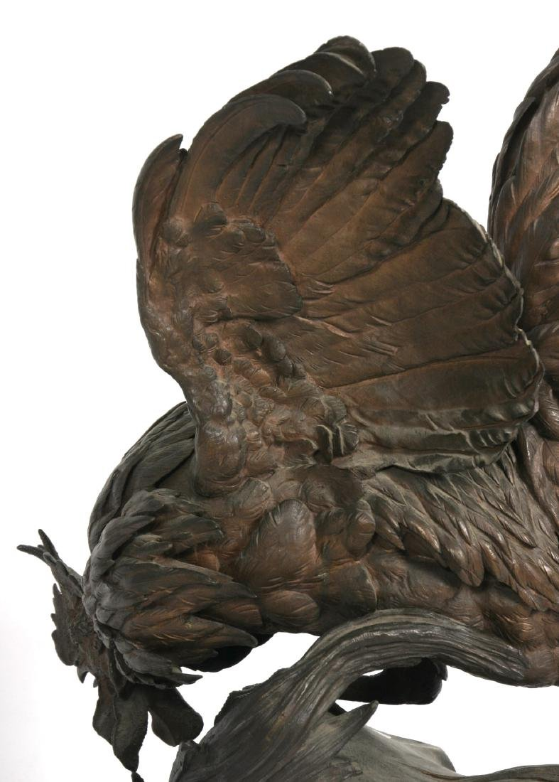 Jules Moigniez Large Figural Bronze Rooster - 10