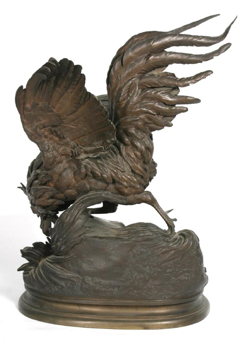 Jules Moigniez Large Figural Bronze Rooster - 9