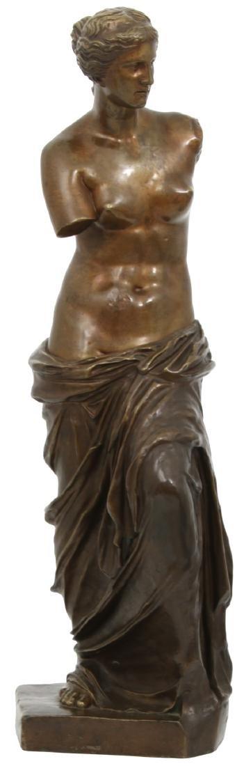 Bronze Figural Venus de Milo Sculpture