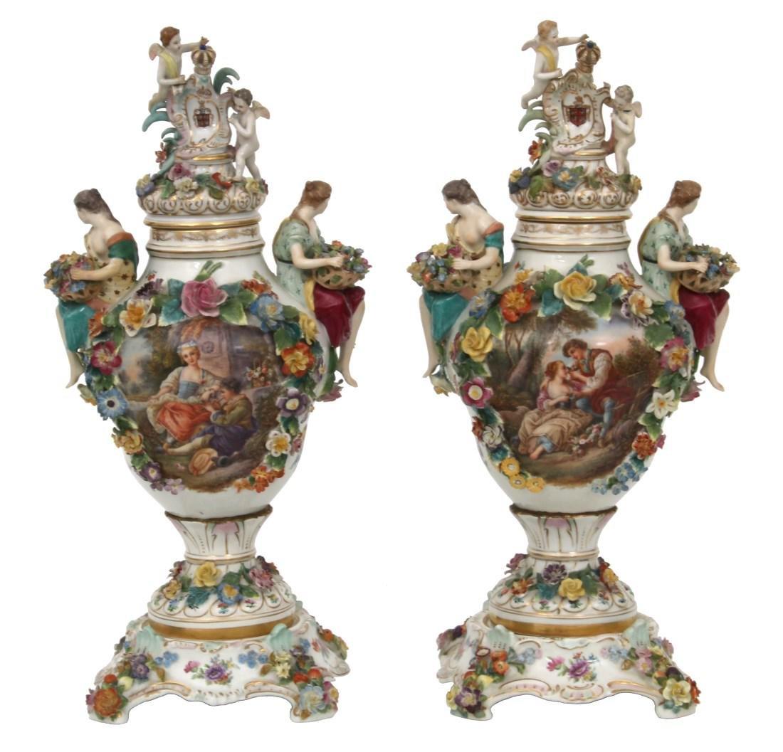Pr. Royal Vienna Covered Urns