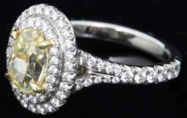 Tiffany  Co 174 Carat Yellow Diamond Ring