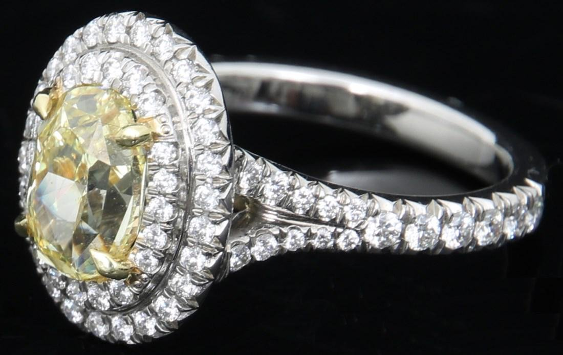 Tiffany & Co. 1.74 Carat Yellow Diamond Ring