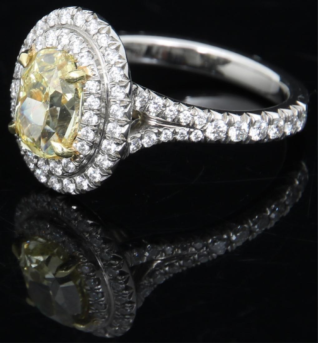 Tiffany & Co. 1.74 Carat Yellow Diamond Ring - 2