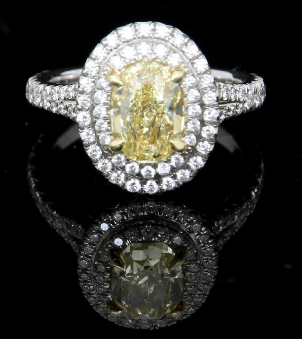 Tiffany & Co. 1.74 Carat Yellow Diamond Ring - 3