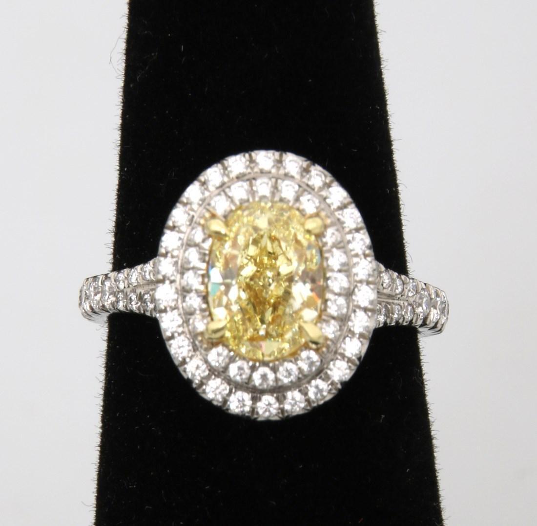 Tiffany & Co. 1.74 Carat Yellow Diamond Ring - 4