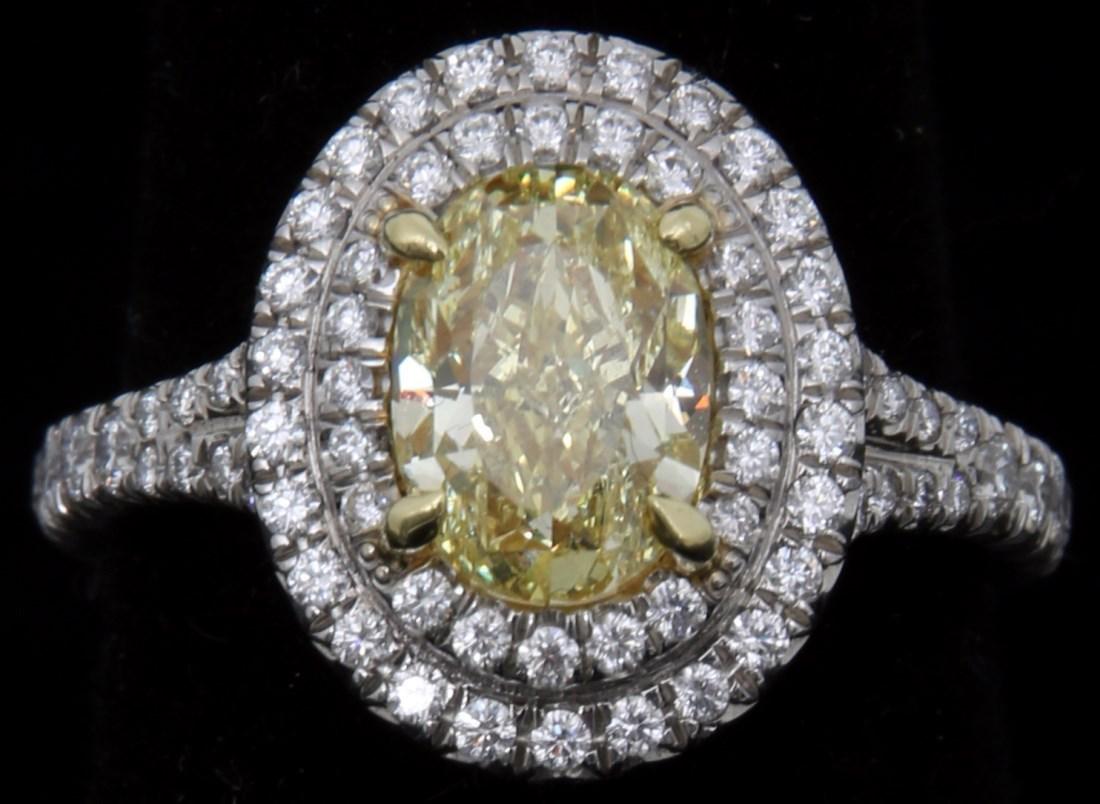 Tiffany & Co. 1.74 Carat Yellow Diamond Ring - 5
