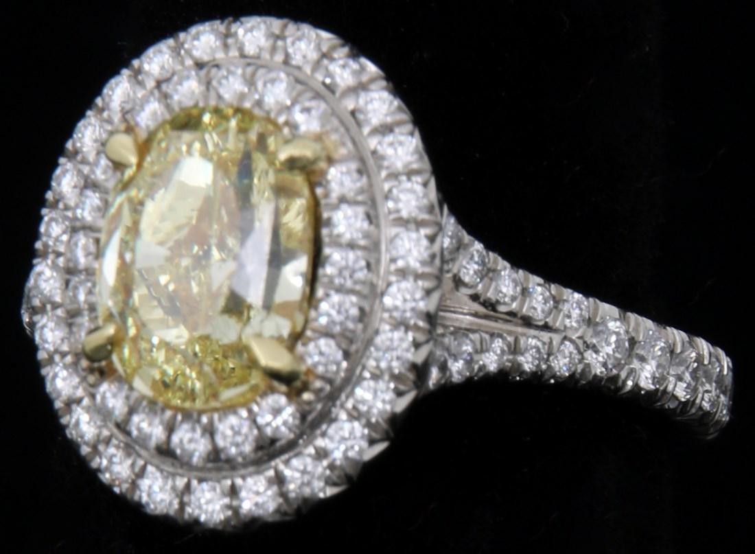Tiffany & Co. 1.74 Carat Yellow Diamond Ring - 6