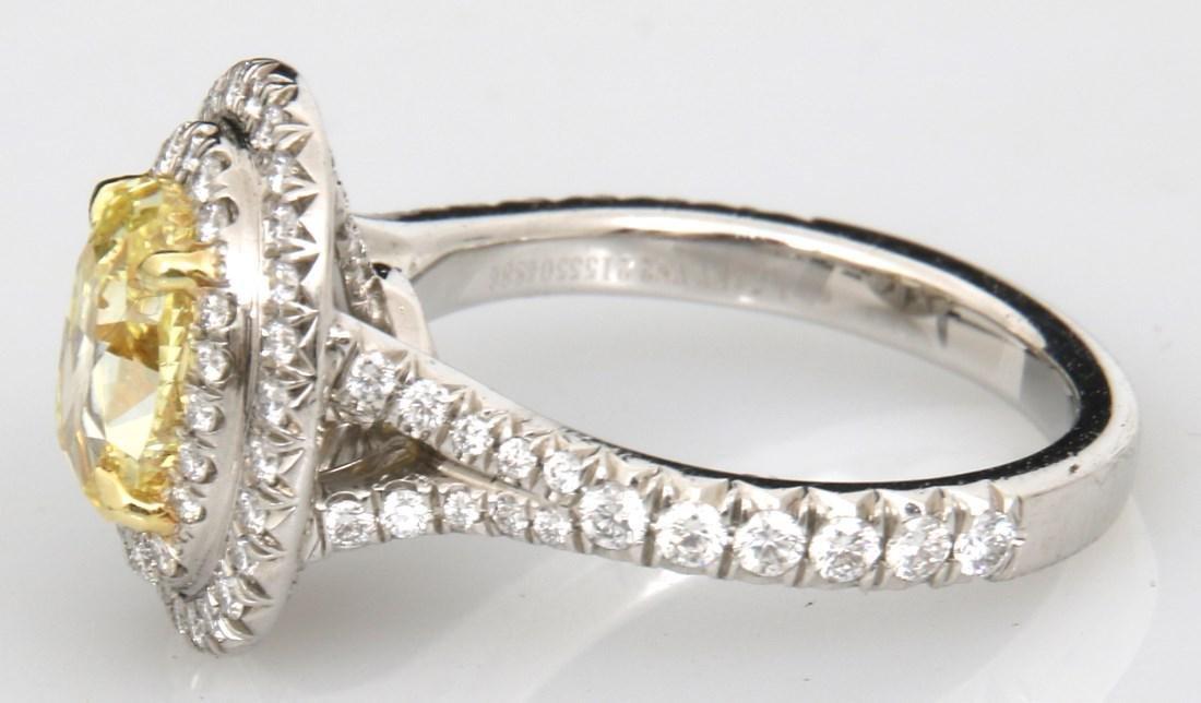 Tiffany & Co. 1.74 Carat Yellow Diamond Ring - 9