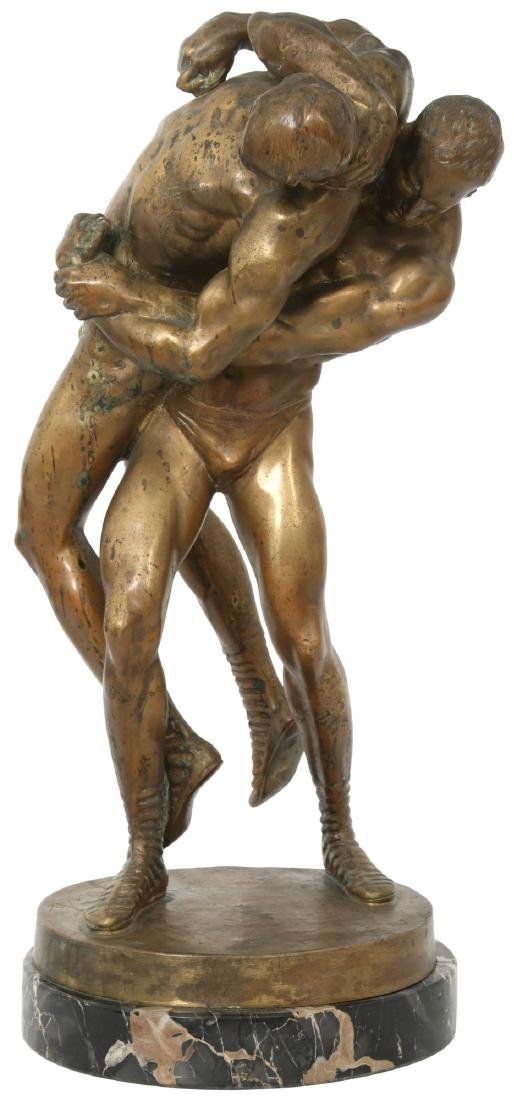 "Bruno Zach Bronze ""Wrestlers"""