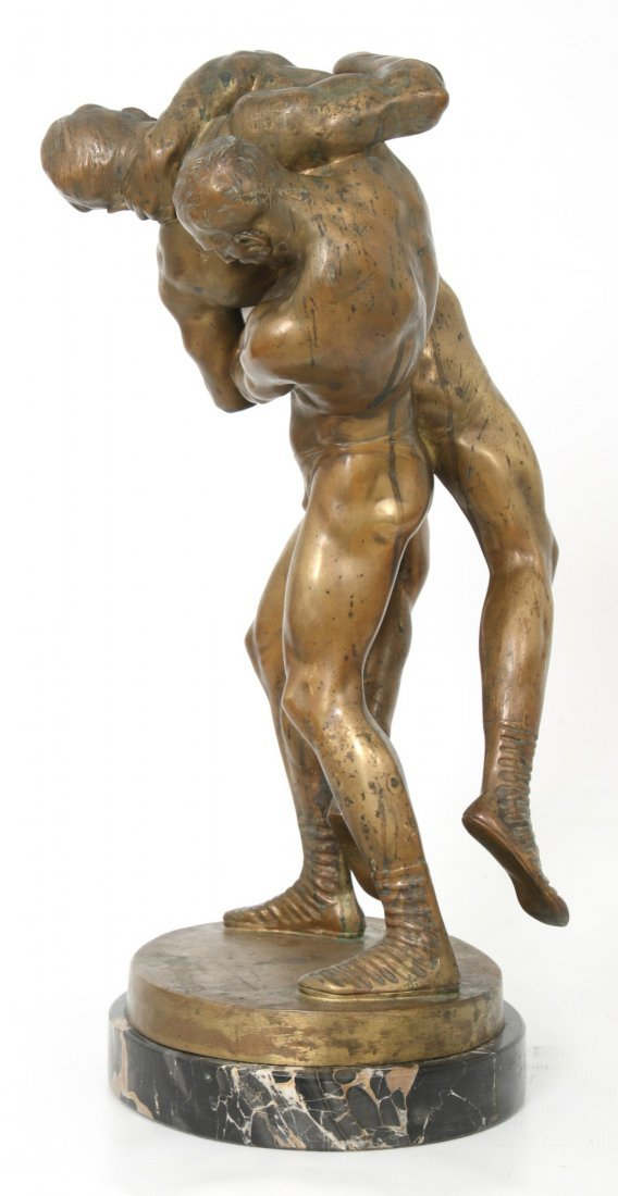 "Bruno Zach Bronze ""Wrestlers"" - 2"