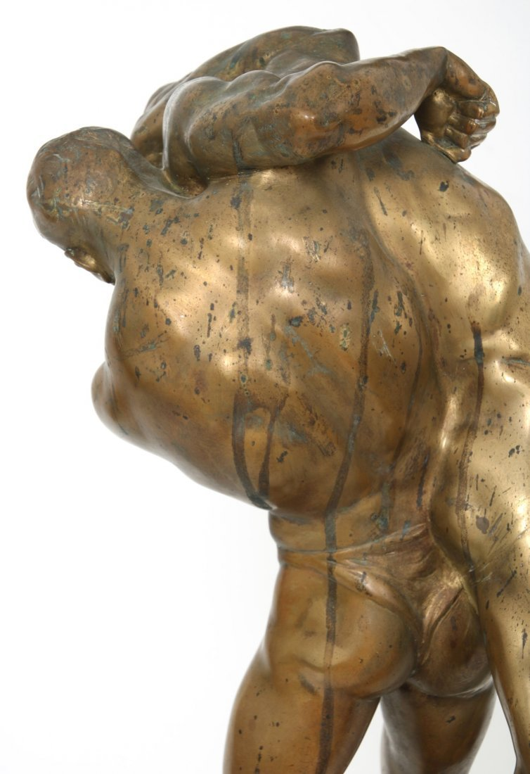 "Bruno Zach Bronze ""Wrestlers"" - 4"