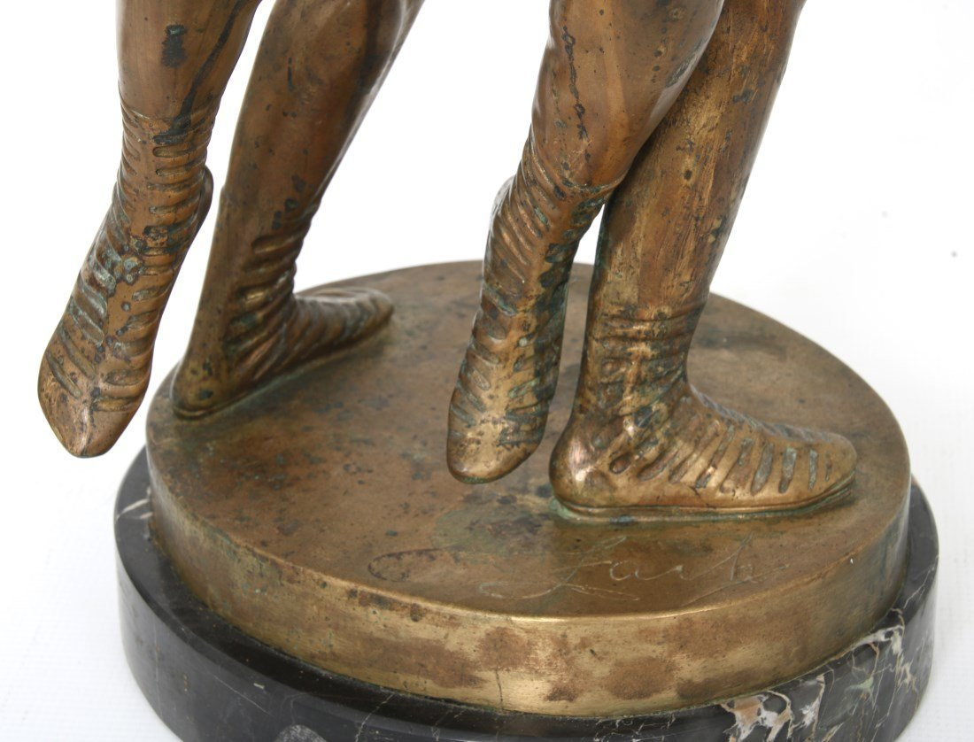 "Bruno Zach Bronze ""Wrestlers"" - 7"