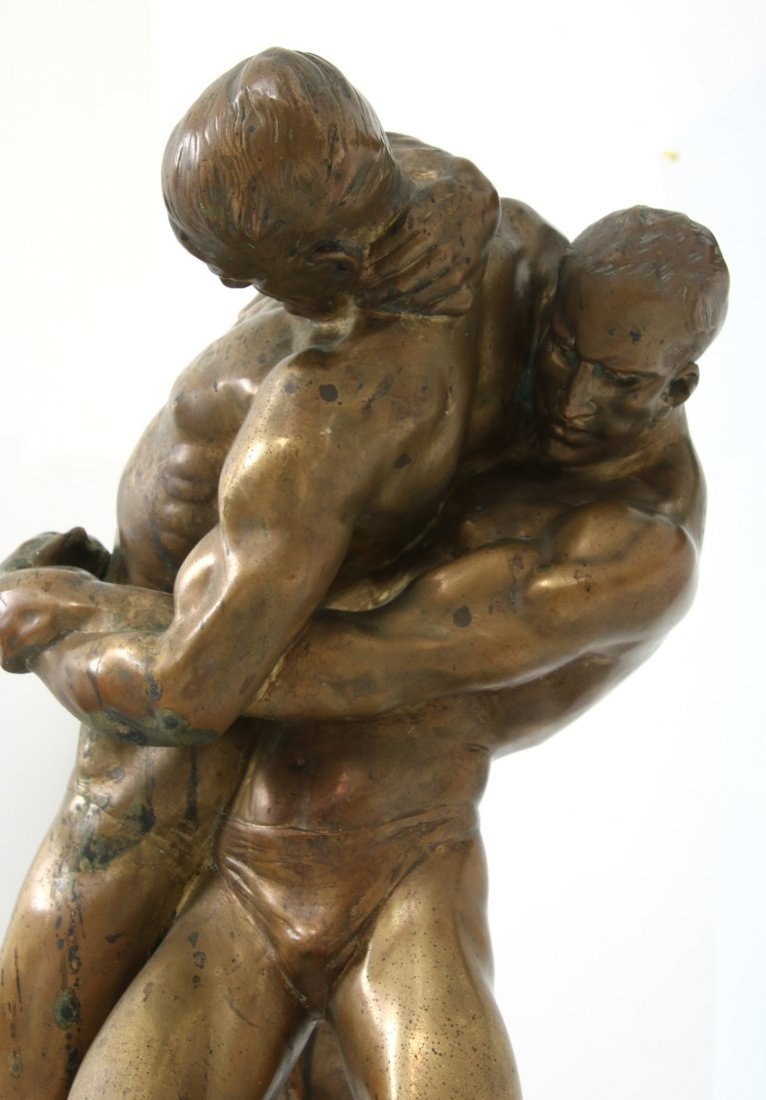 "Bruno Zach Bronze ""Wrestlers"" - 8"