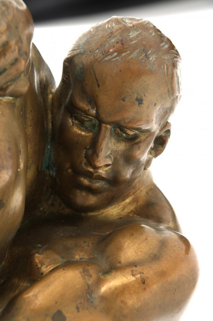"Bruno Zach Bronze ""Wrestlers"" - 9"