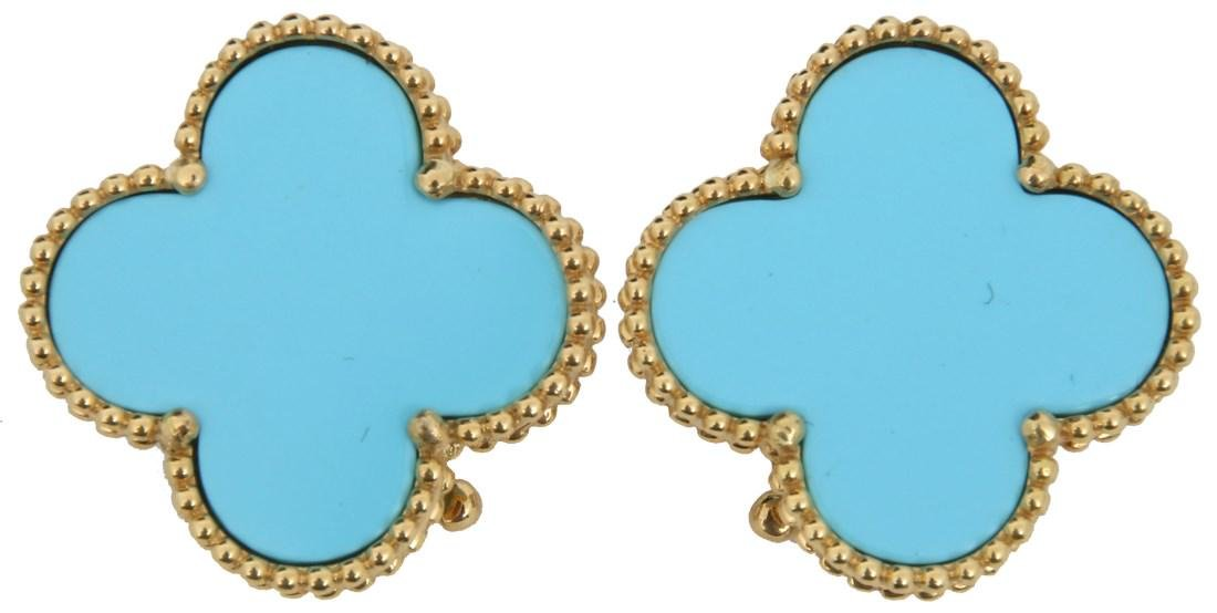 Pr. 18 Van Cleef & Arpels Alhambra Earrings