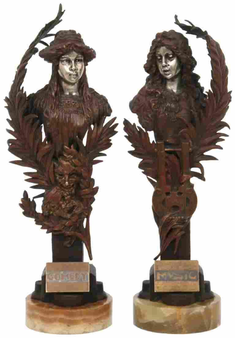 Pr. Carl Kauba Bronze Allegorical Sculptures