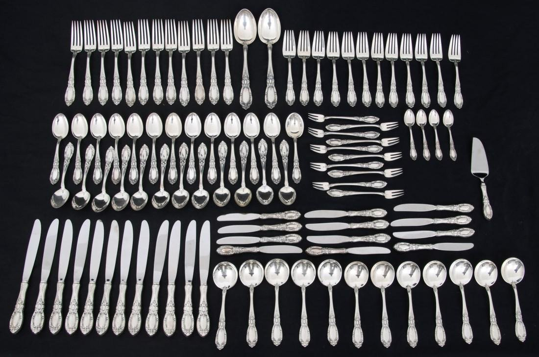 101 Pc. Towle King Richard Sterling Flatware