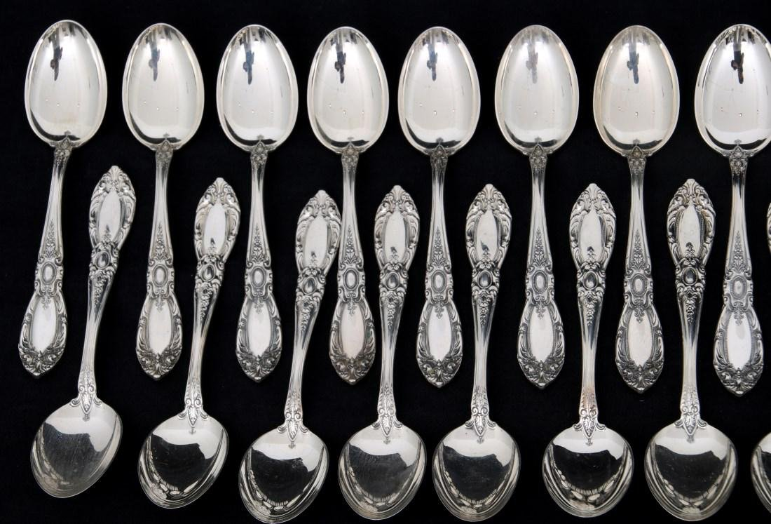 101 Pc. Towle King Richard Sterling Flatware - 3