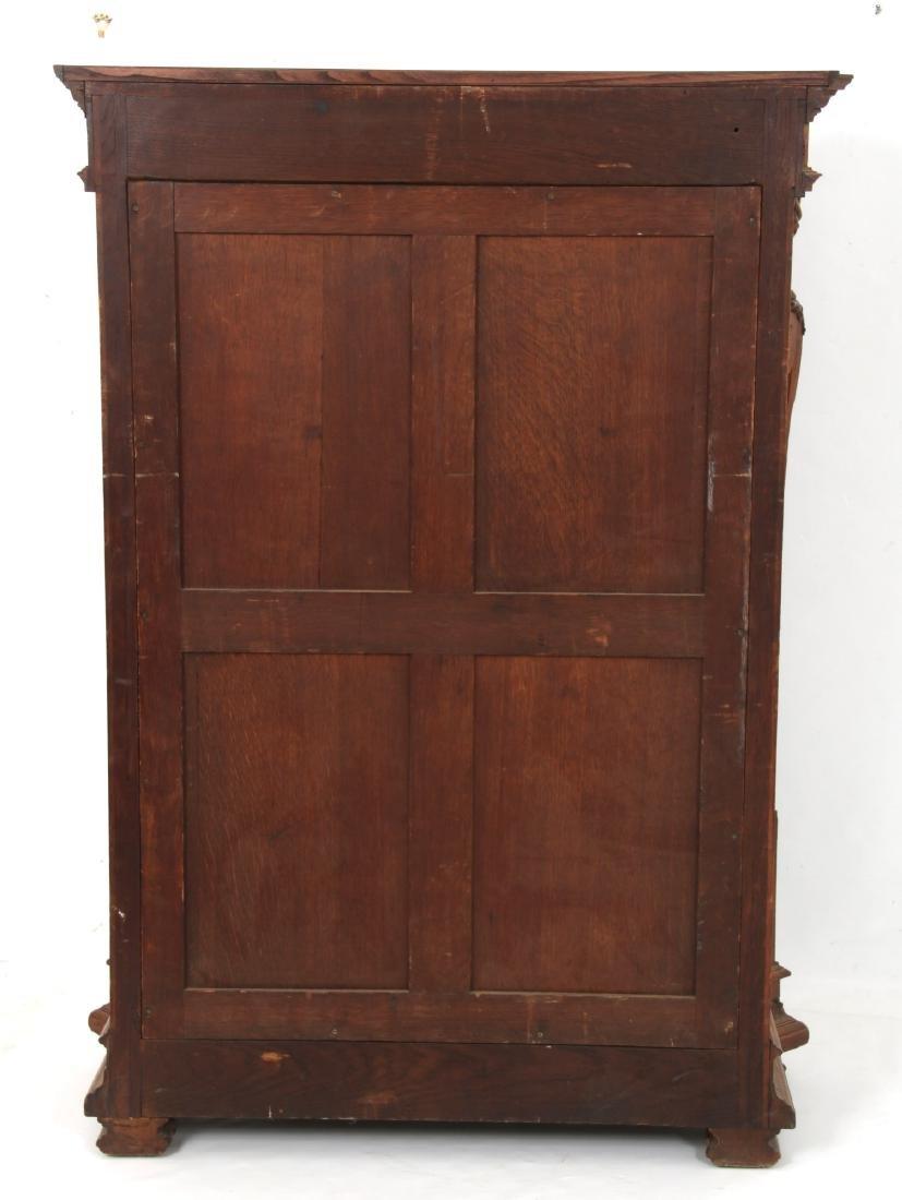 Figural Carved Walnut 2 Door Bookcase - 8