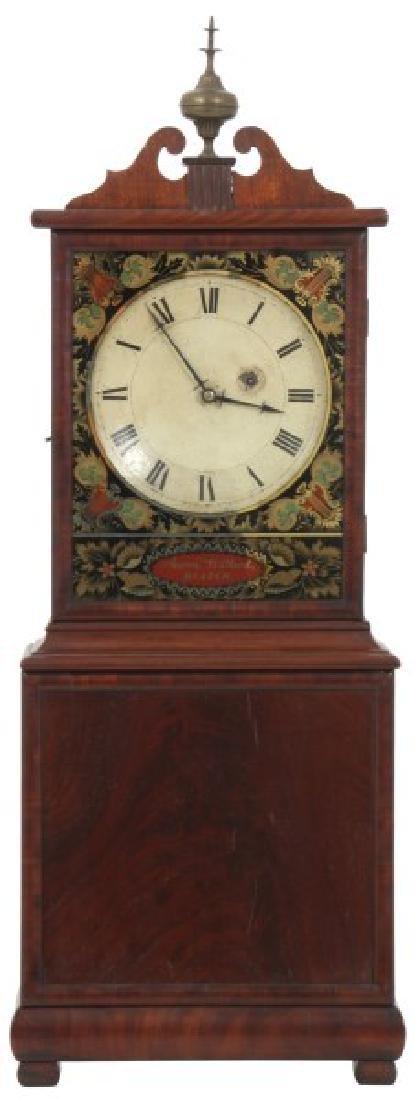 19th Century Massachusetts Mahogany Shelf Clock