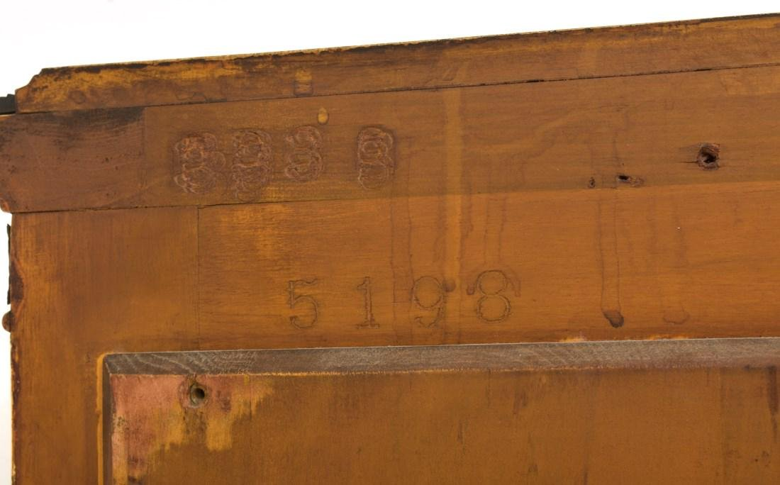 Paint Decorated Gilt Vitrine Curio Cabinet - 10