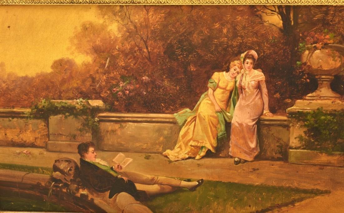 Paint Decorated Gilt Vitrine Curio Cabinet - 6