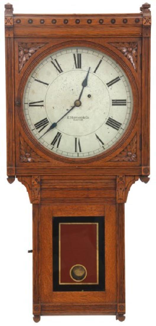 E. Howard No. 75 Oak Wall Regulator Clock