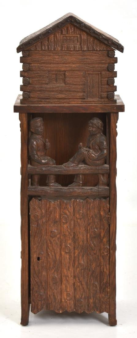 Black Forest Carved Smoking Stand - 10