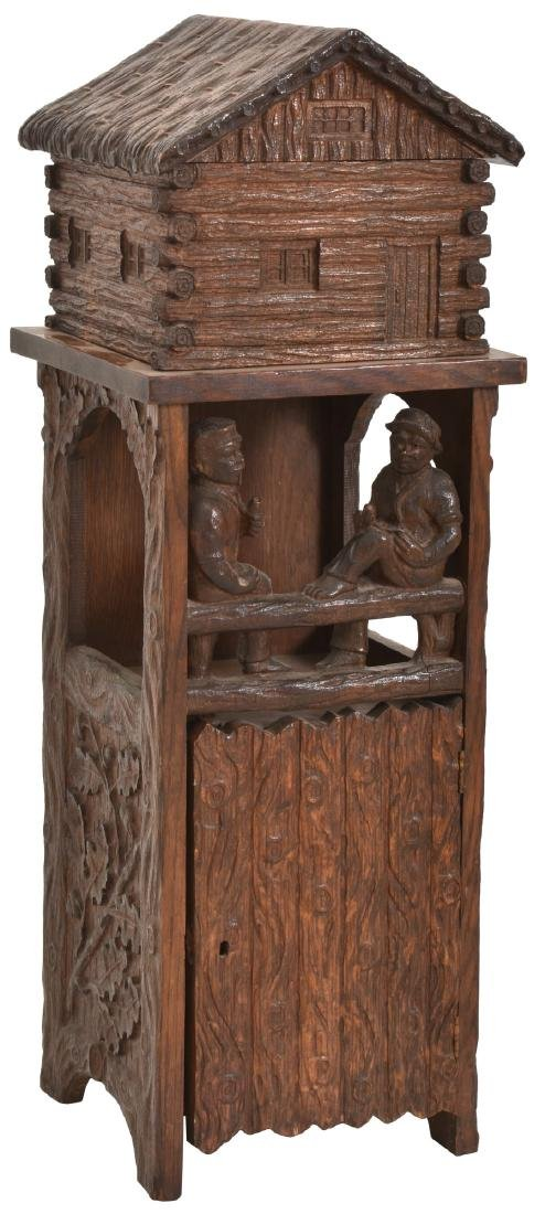 Black Forest Carved Smoking Stand