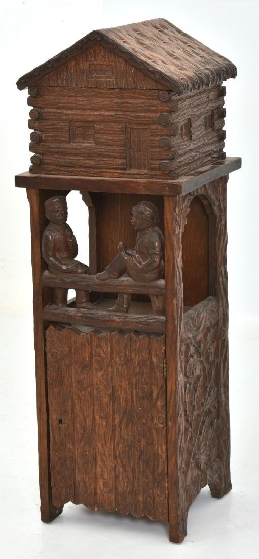Black Forest Carved Smoking Stand - 2